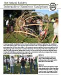 Bamboo sculpture's like the ones in this informative PDF help participants connect with bamboo as a material while studying concepts of architecture and space use.